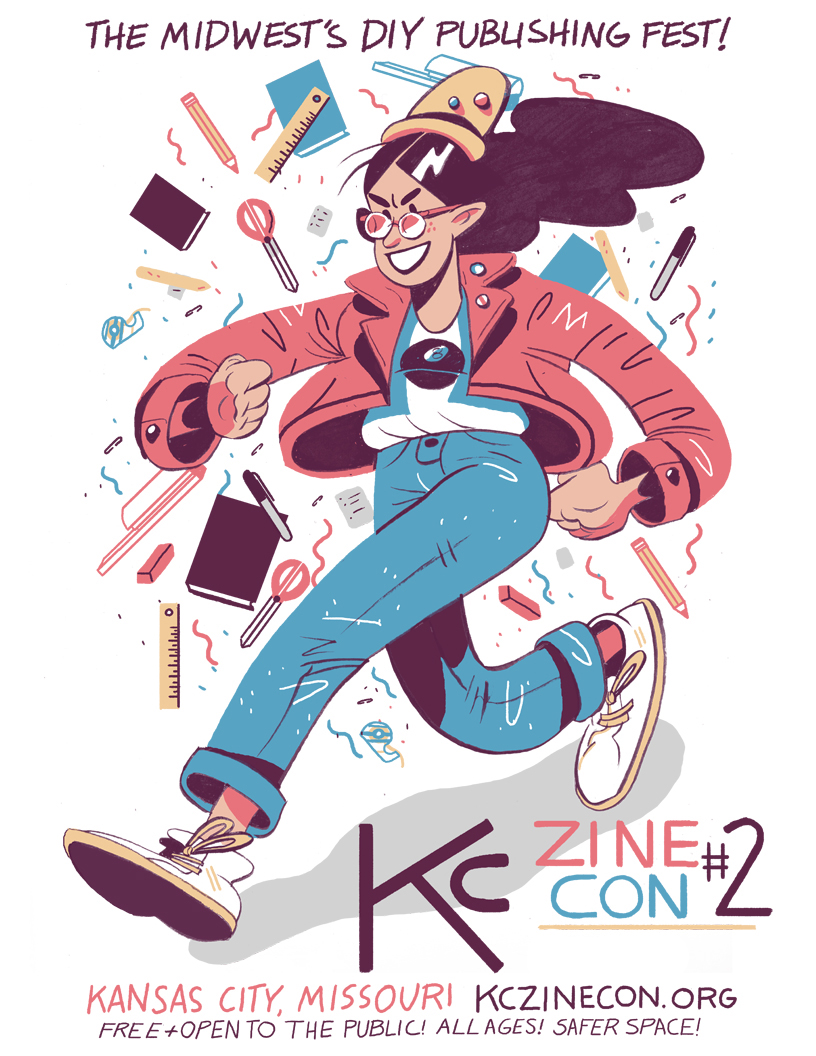 Kelsey's all over town. Check out her work on the official poster for this year's Kansas City Zine Con.