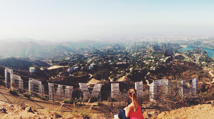 Top of the Hollywood Sign