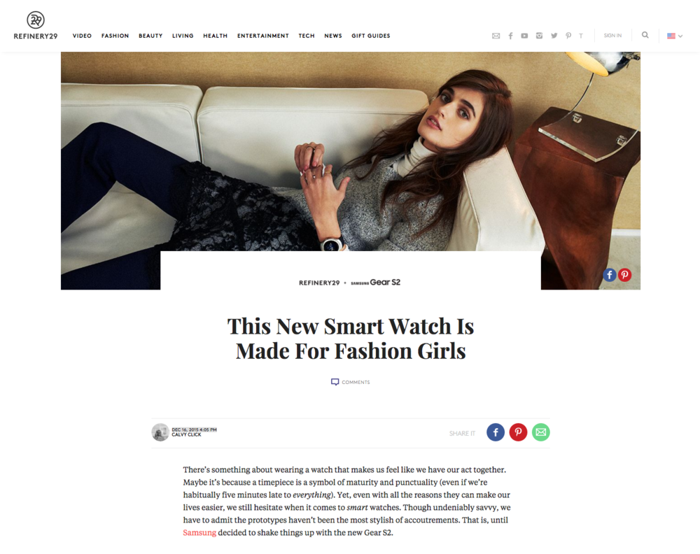 Refinery29 + Banana Republic