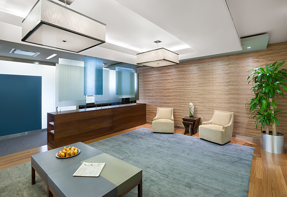 Tobin Parnes Design. NYC. Workplace Design. Reception Design.