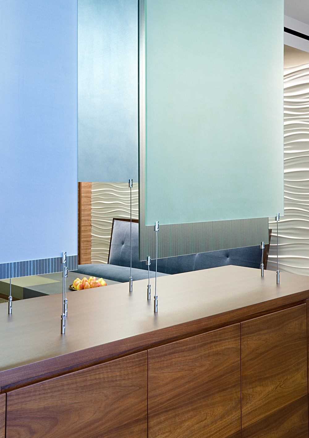 Tobin Parnes Design. NYC. Workplace Design. Reception Design. Design is in the details
