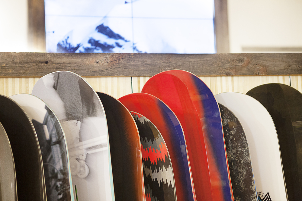Burton Snowboards. Tobin Parnes Design. NY. Retail Design. Snowboard Display.