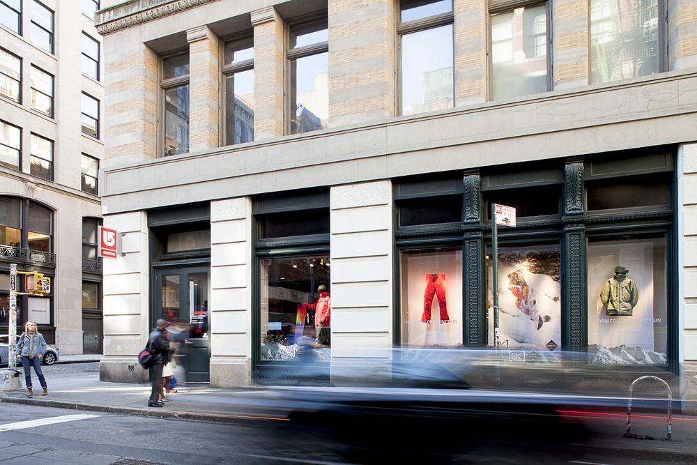 Burton Snowboards. Tobin Parnes Design. NY. Retail Design. Exterior. Storefront.