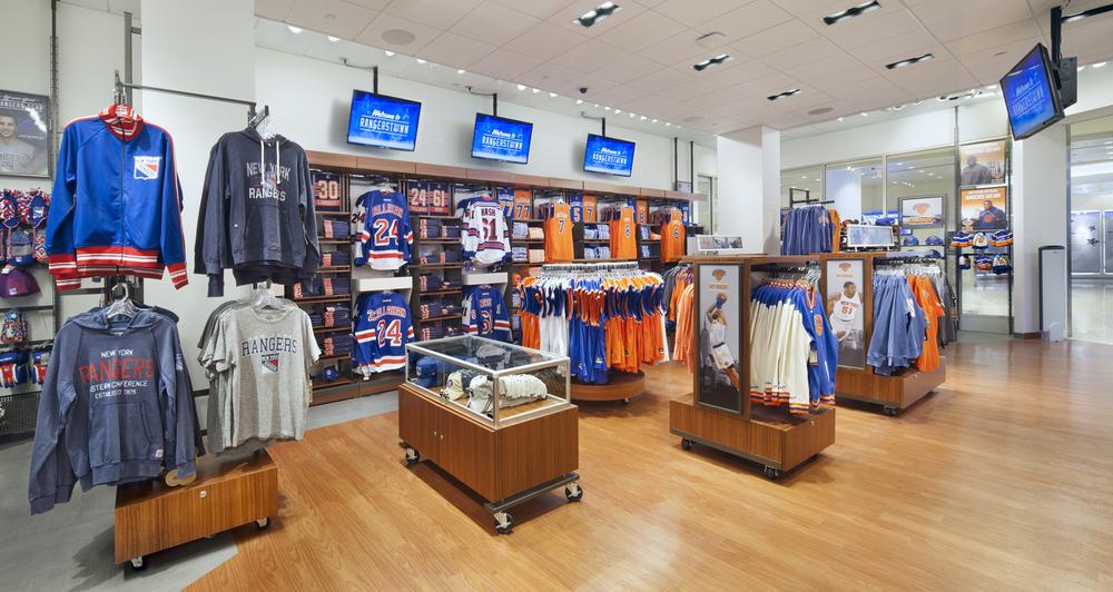 Madison Square Garden Stores. Tobin Parnes Design. NY. Retail Design. Sales  Area