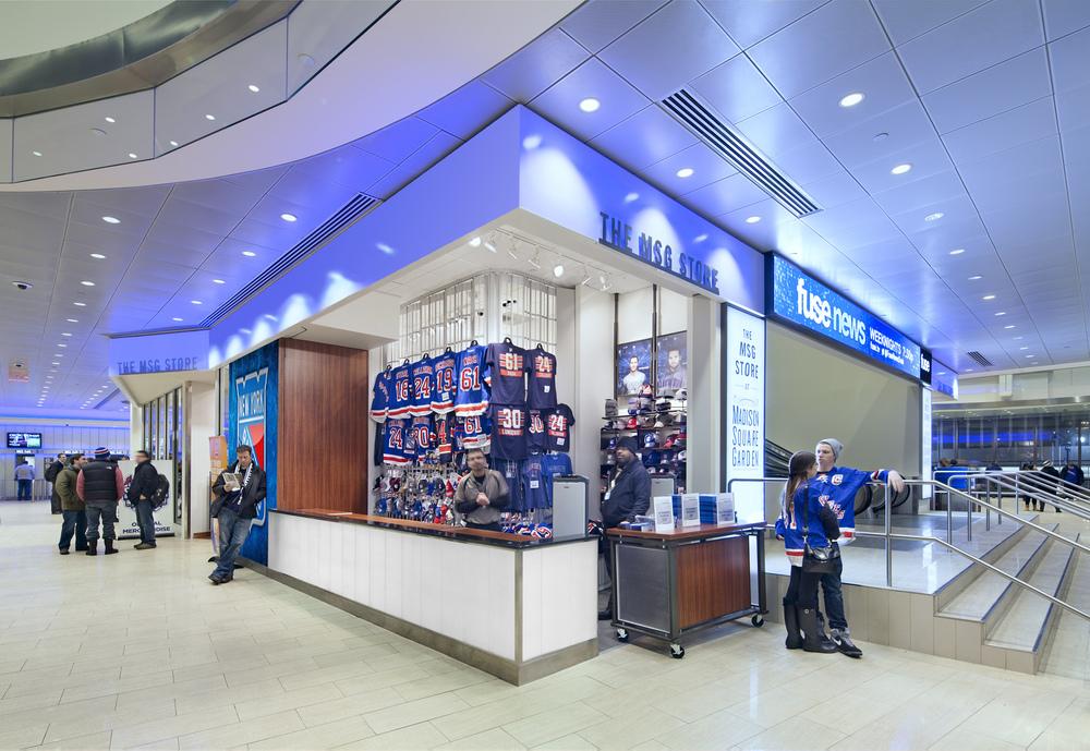 Madison Square Garden Stores. Tobin Parnes Design. NY. Retail Design. Exterior.