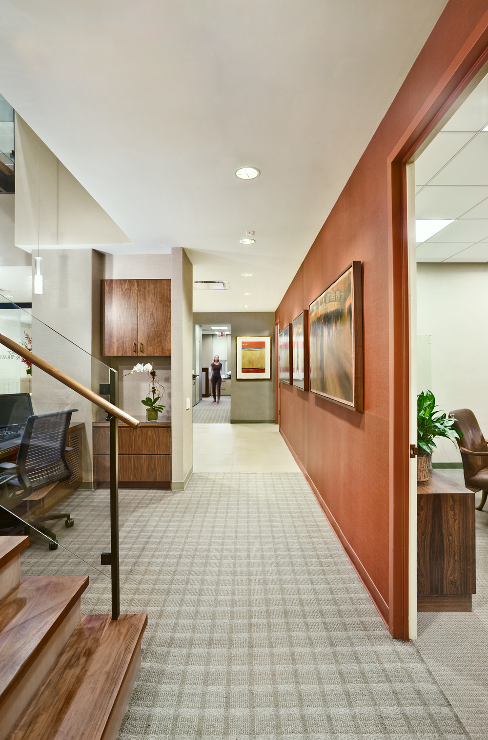 Tobin Parnes Design. Workplace Design. Office Design. Corridor Design