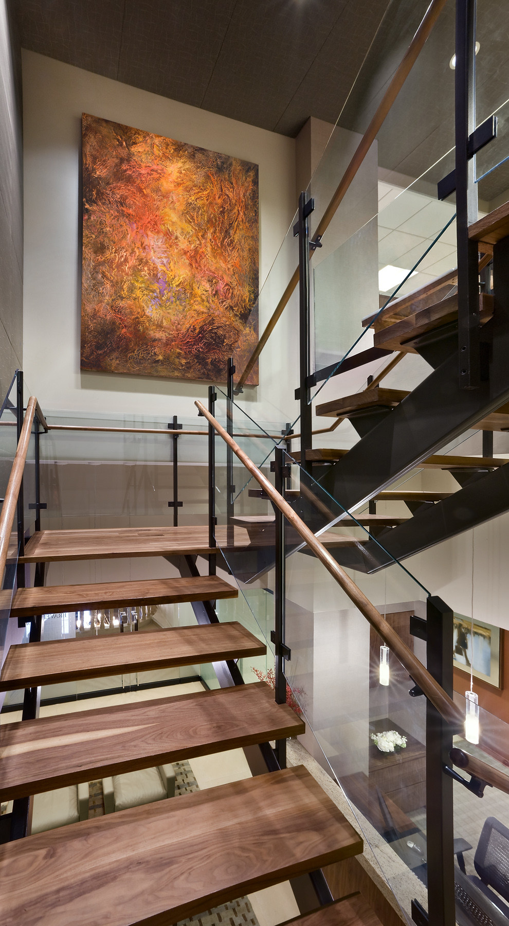 Tobin Parnes Design. Workplace Design. Office Design. Stair Design
