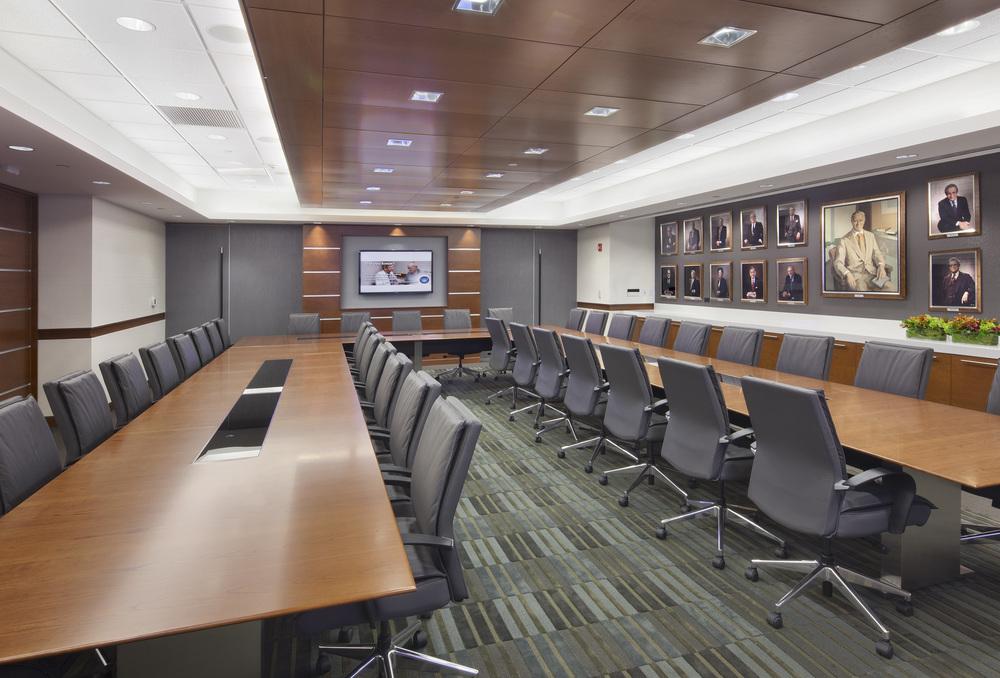 Parker Jewish Institute: 1 North. Tobin Parnes Design. NY. Healthcare Design. Board Room.