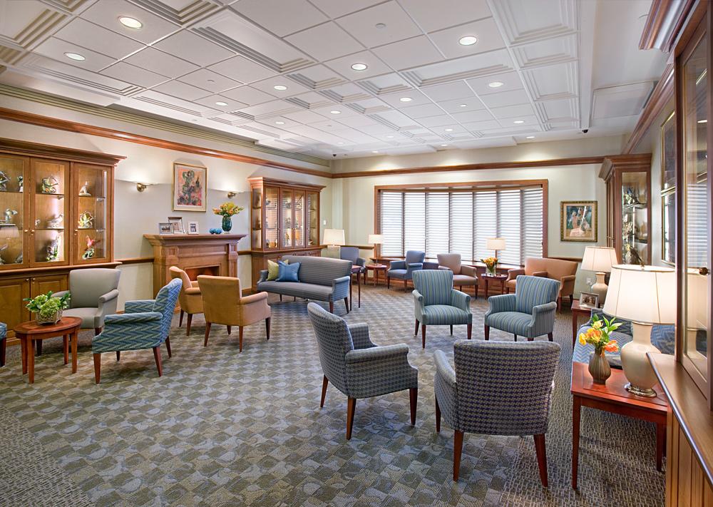 Parker Jewish Institute. Tobin Parnes Design. NY. Healthcare Design. Family Lounge.