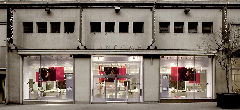 Lancome design interior design firm new york tobin for Retail interior design firms nyc
