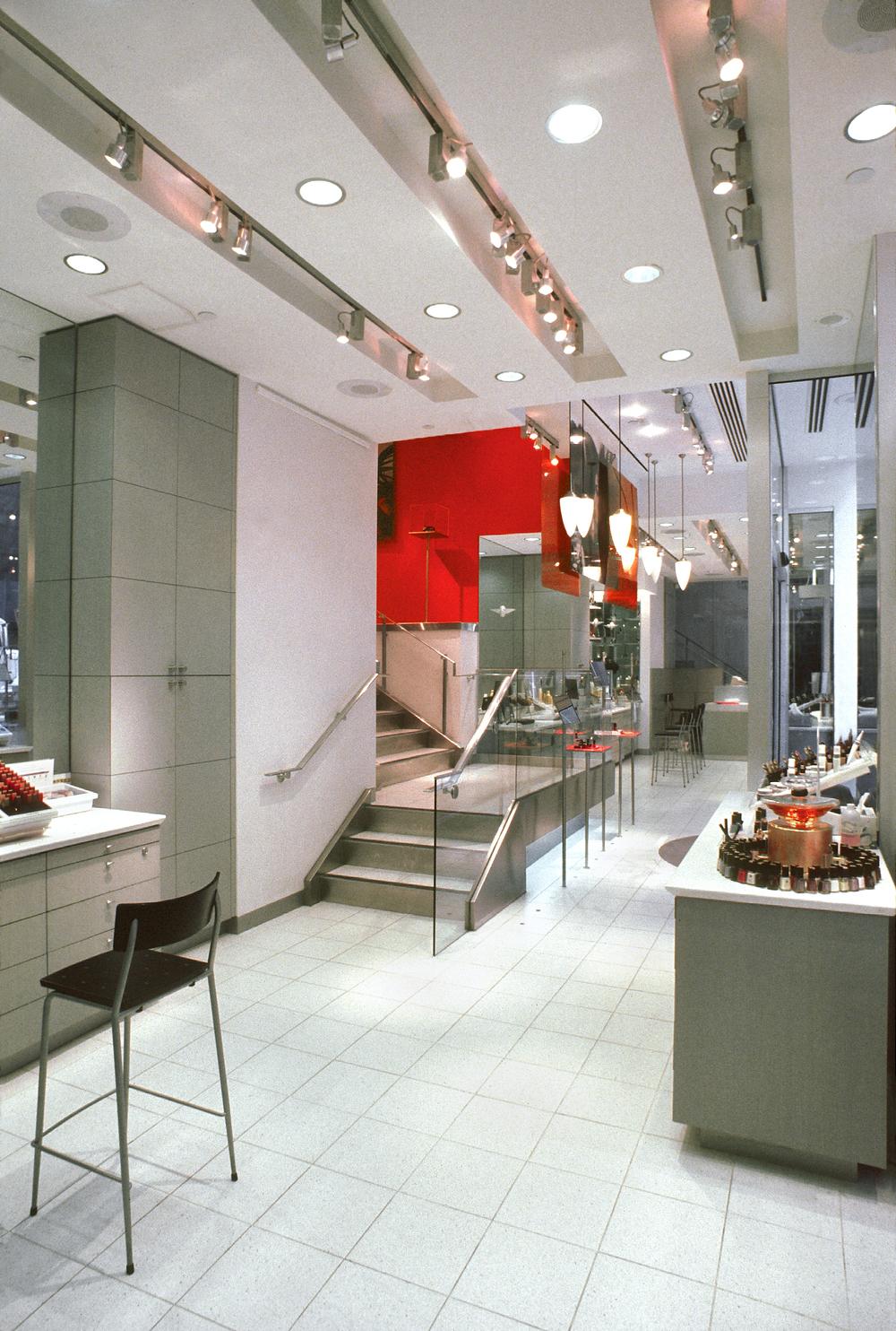 Lancome. Tobin Parnes Design. NY. Retail Design. Sales Area. Entry.