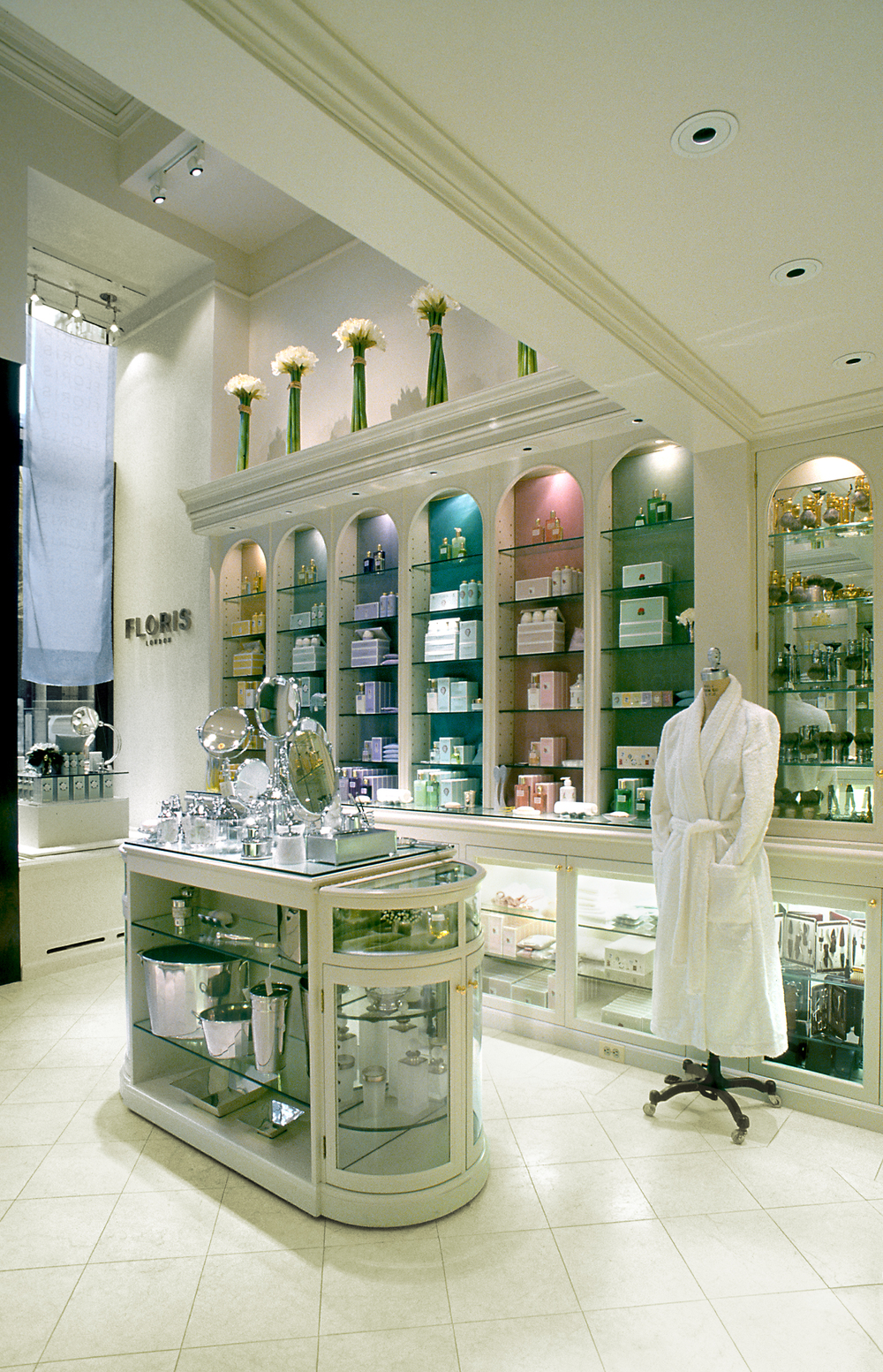 Floris of London. Tobin Parnes Design. Retail Design. Sales Area.