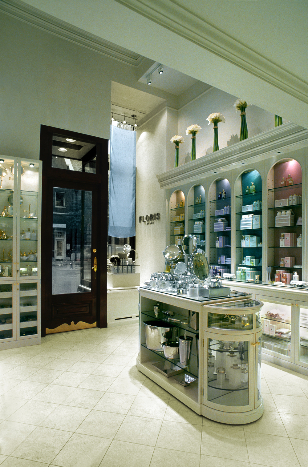 Floris of London. Tobin Parnes Design. Retail Design. Sales Area. Entry.