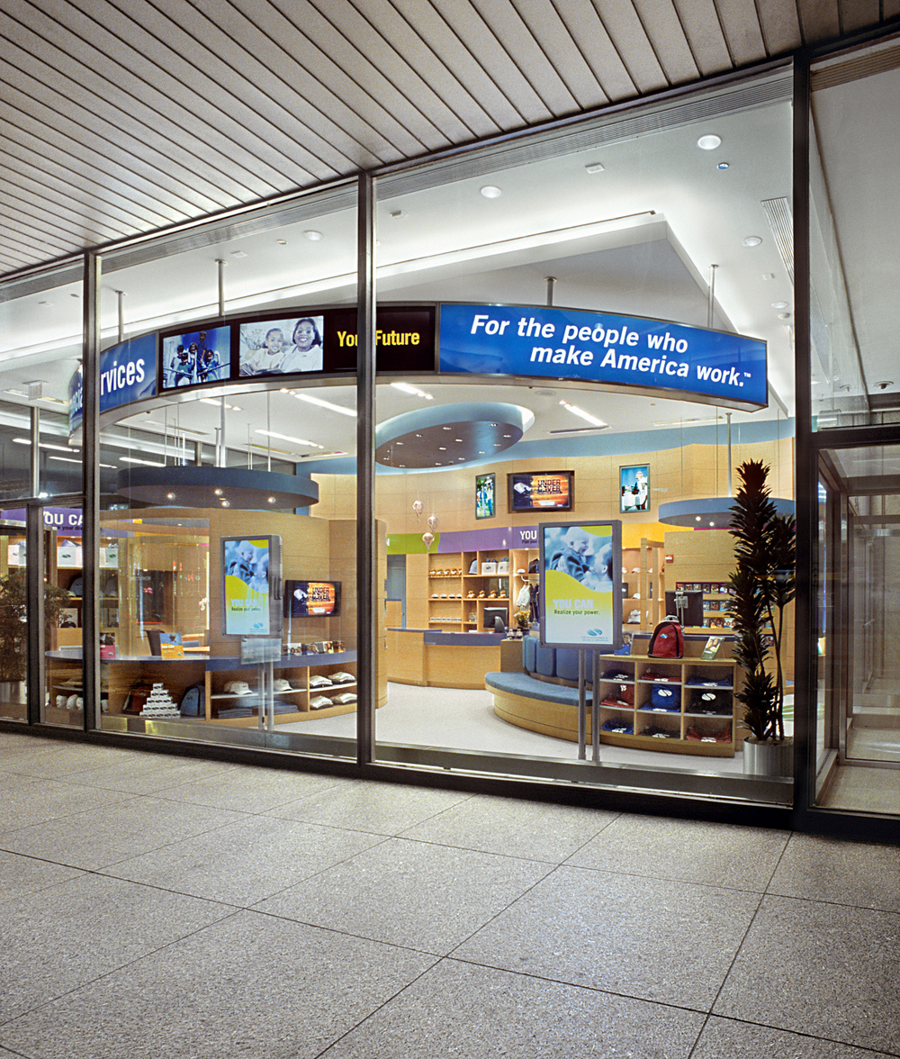 SBLI USA Financial Services - Retail Store. Tobin Parnes Design. Retail Design. Exterior.