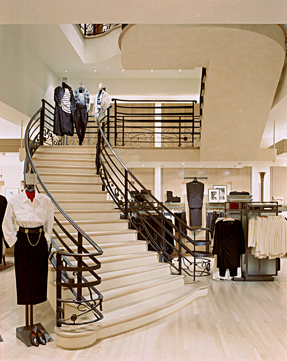 Episode. Tobin Parnes Design. Retail Design. Stair.
