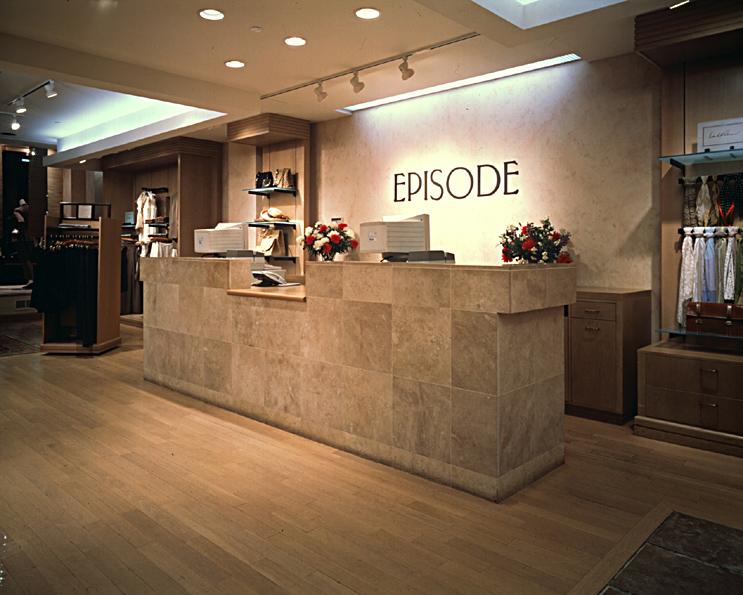 Episode. Tobin Parnes Design. Retail Design. Sales Area.