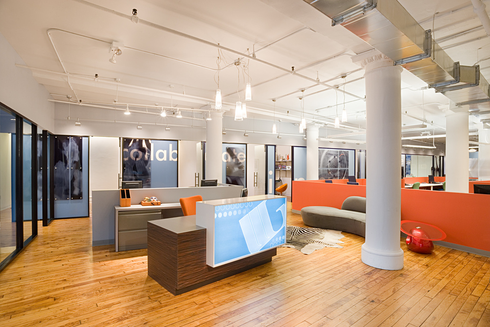 Tobin Parnes Design. Workplace Design. Office Design. Reception