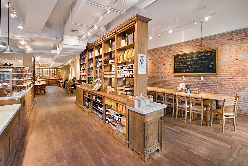 Le Pain Quotidien. Tobin Parnes Design. NYC. Hospitality Design. Restaurant. Cafe. Bakery. Millwork.