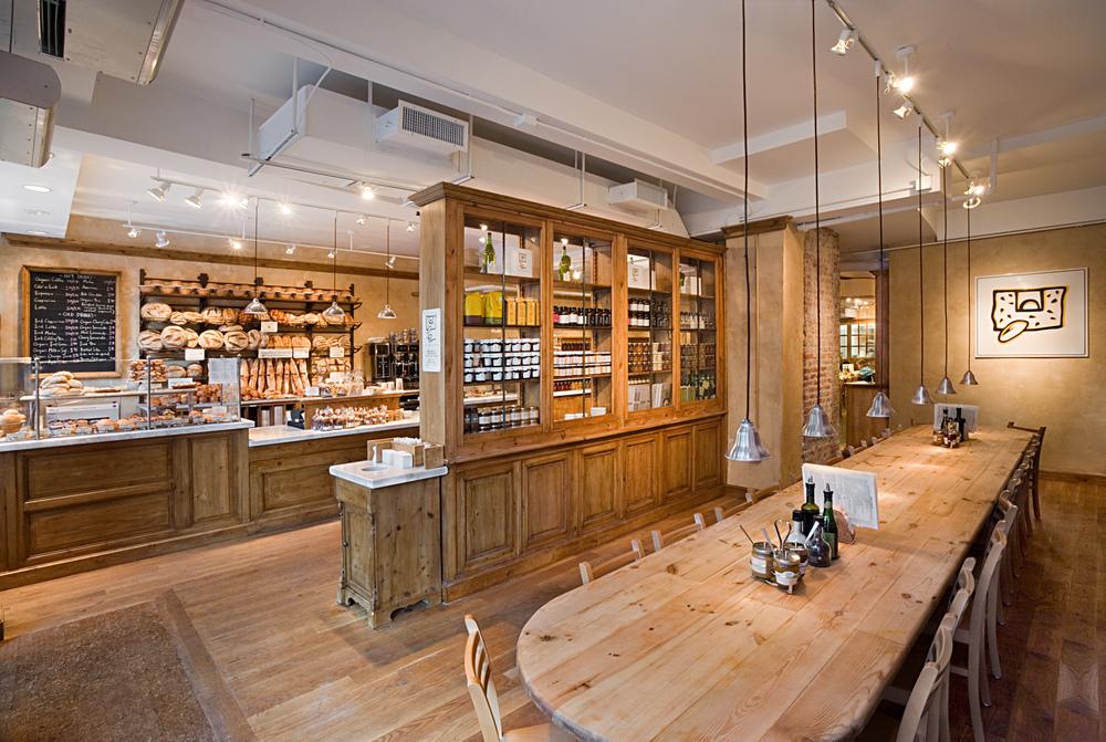 Tobin Parnes Design. Le Pain Quotidien. NYC. Hospitality Design. Restaurant. Cafe. Bakery.