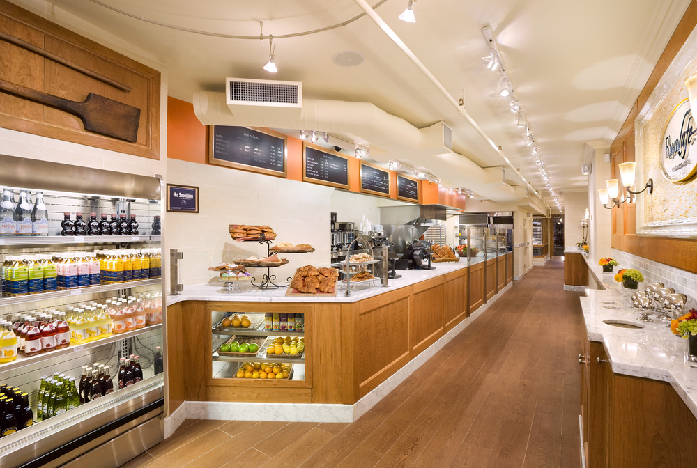 Rheon Cafe. Tobin Parnes Design. NYC. Hospitality Design. Restaurant. Cafe. Bakery. Millwork.