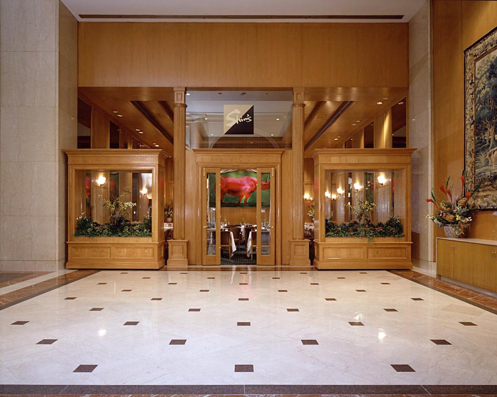 Shin's Restaurant & Hotel Lobby. Tobin Parnes Design. NYC. Hospitality Design. Restaurant. Exterior.