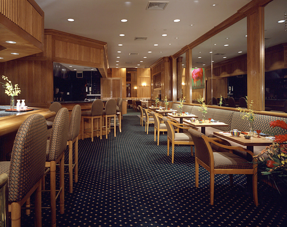 Tobin Parnes Design. Shin's Restaurant & Hotel Lobby. NYC. Hospitality Design. Restaurant. Millwork. Furniture. Seating. Finishes.