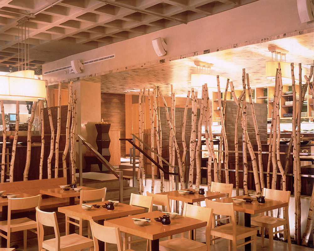 Haru Restaurant. Tobin Parnes Design. Hospitality Design. Times Square. NYC. Dining Area.