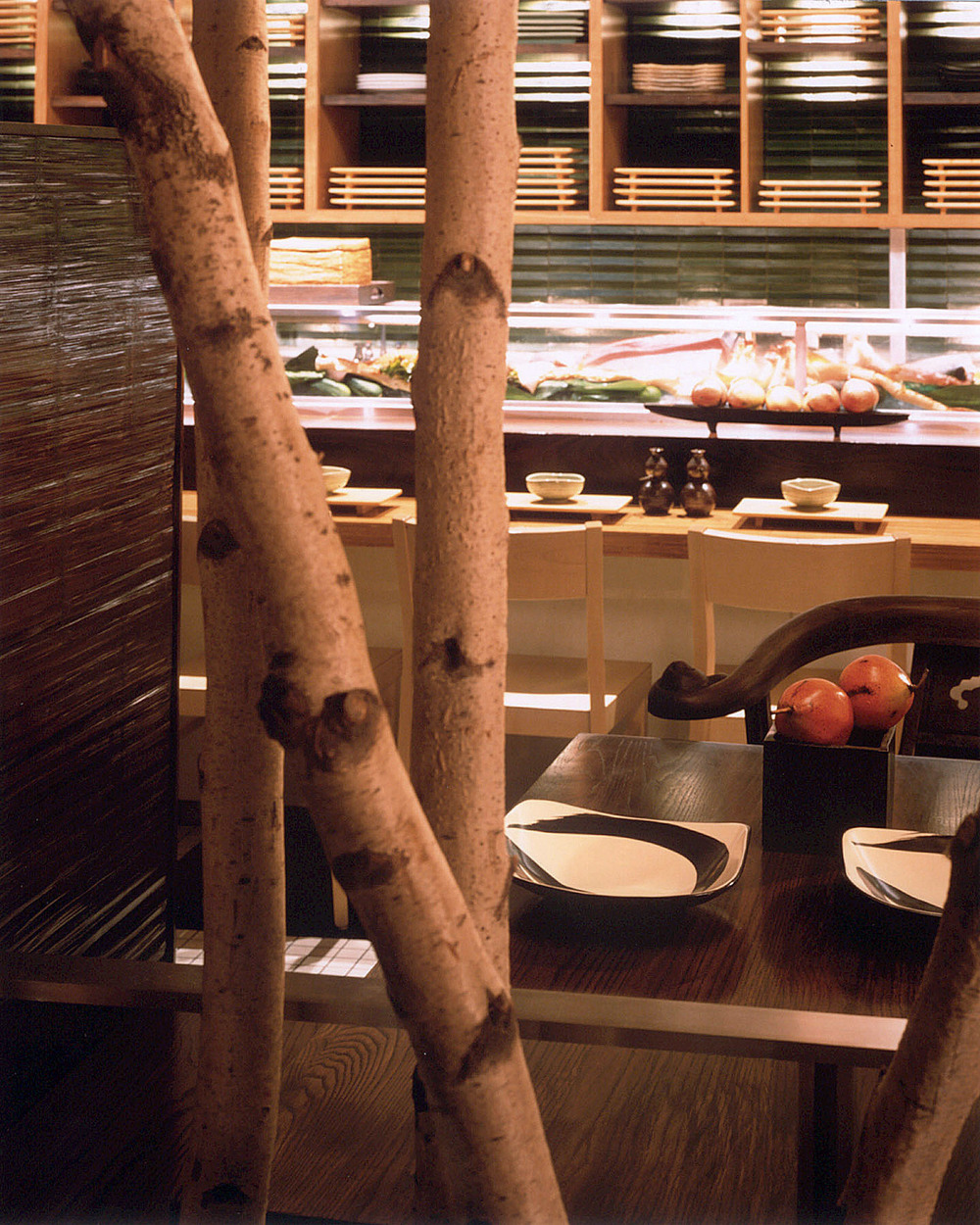 Haru Restaurant. Tobin Parnes Design. Hospitality Design. Times Square. NYC. Sushi Bar.