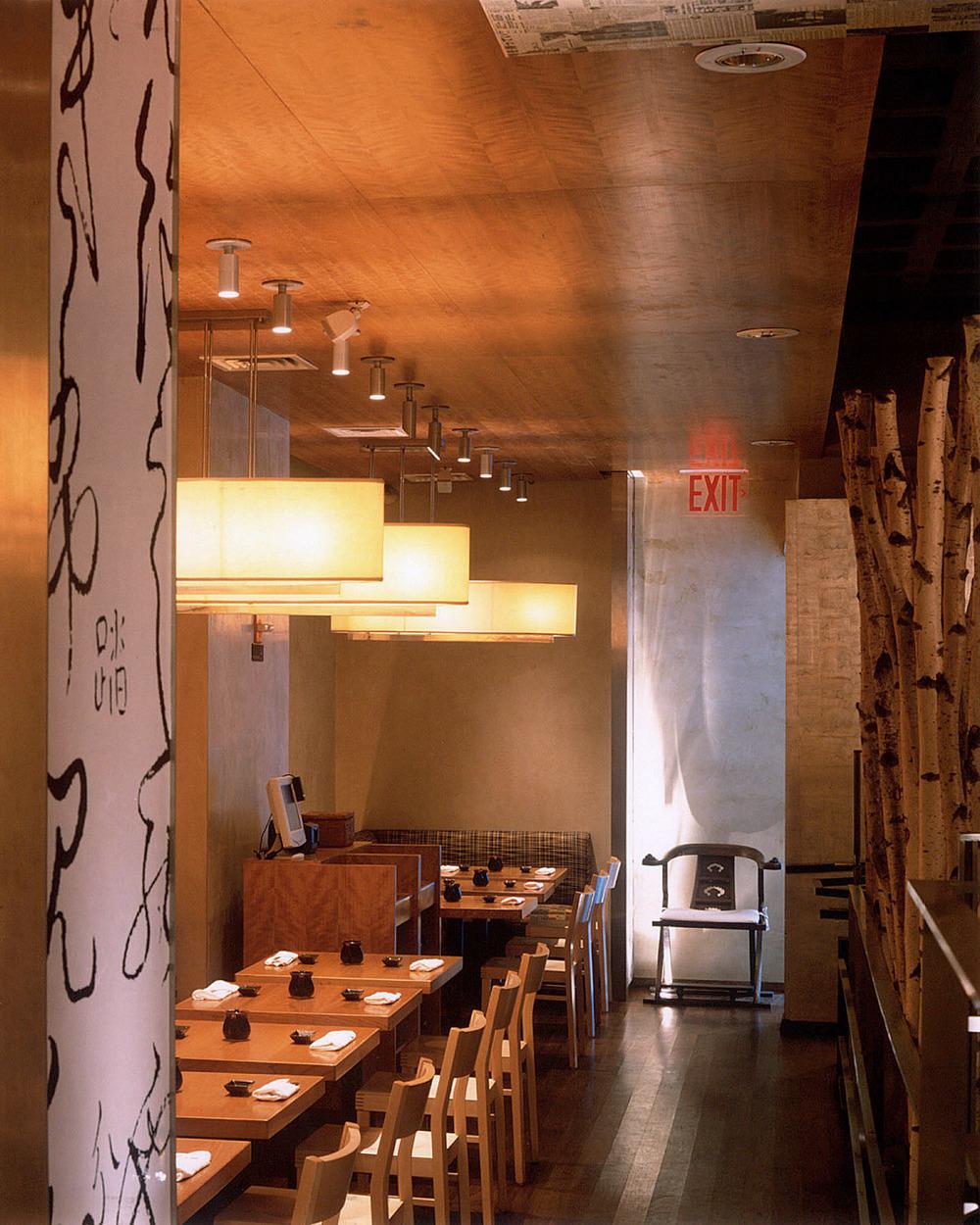 Haru restaurant — design interior firm new york