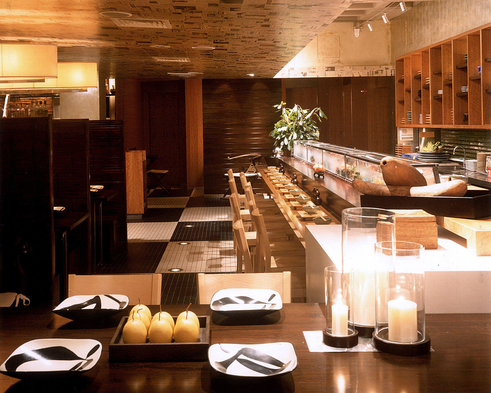 Tobin Parnes Design. Hospitality Design. Times Square. NYC. Sushi