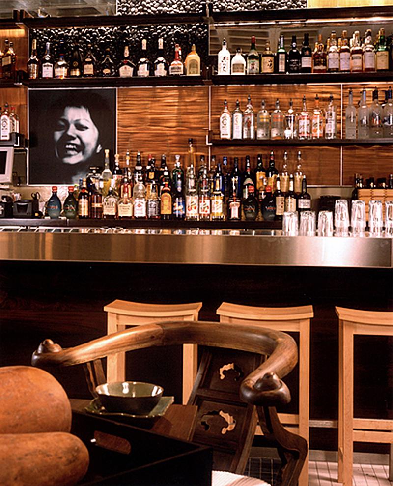 Haru Restaurant. Tobin Parnes Design. Hospitality Design. Times Square. NYC. Bar Area.