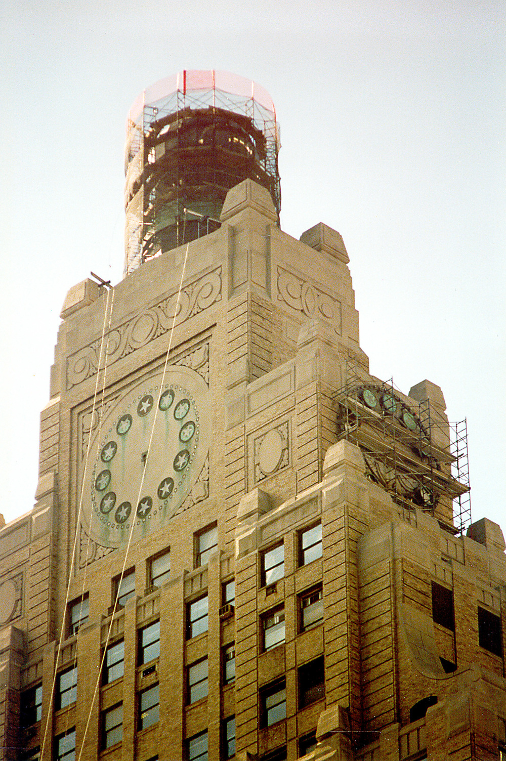 Globe & Clock Restoration. Tobin Parnes Design. New York, NY. Historic Preservation. Pre-Construction Work.