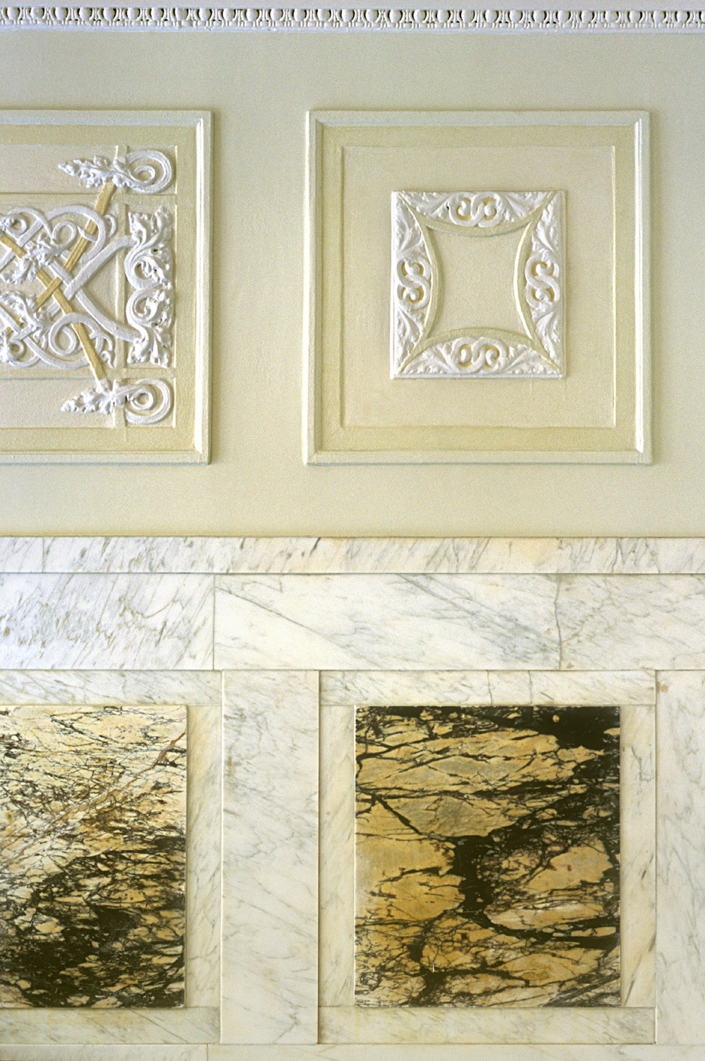 The Cleburne Historic Lobby. Tobin Parnes Design. New York, NY. Historic Preservation. Restoration Detail.