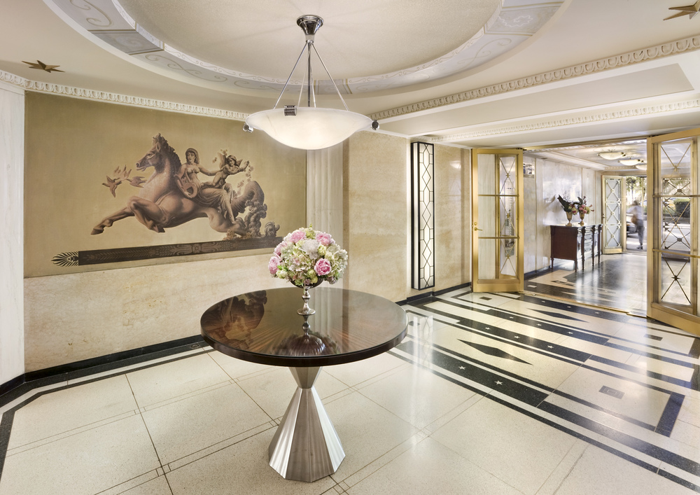 737 Park Avenue. Lobby. Tobin Parnes Design. New York, NY. Historic Preservation.