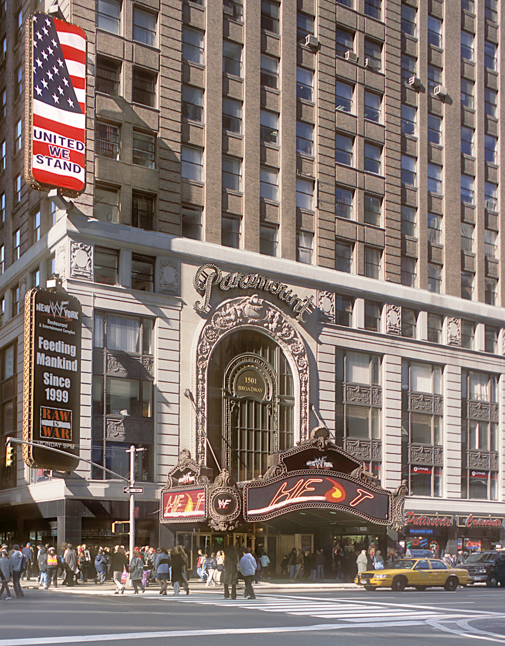 Paramount Building Marquee & Arch. Tobin Parnes Design. New York, NY. Historic Preservation. Times Square.