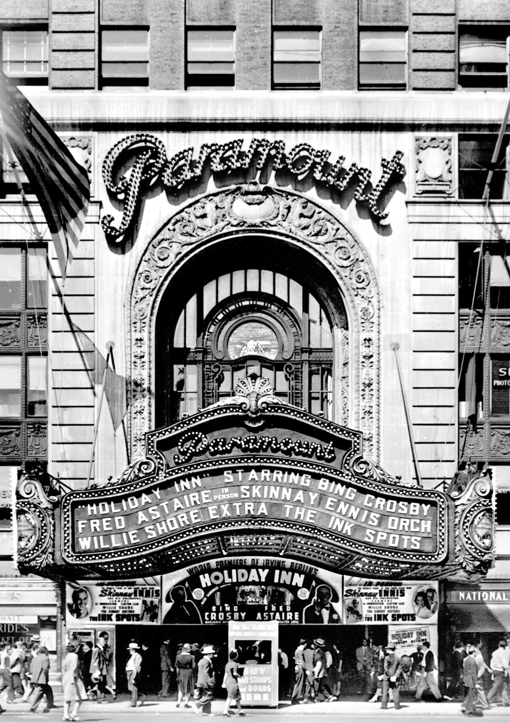 Paramount Building Marquee & Arch. Tobin Parnes Design. New York, NY. Historic Preservation. Times Square. Archived Photo.