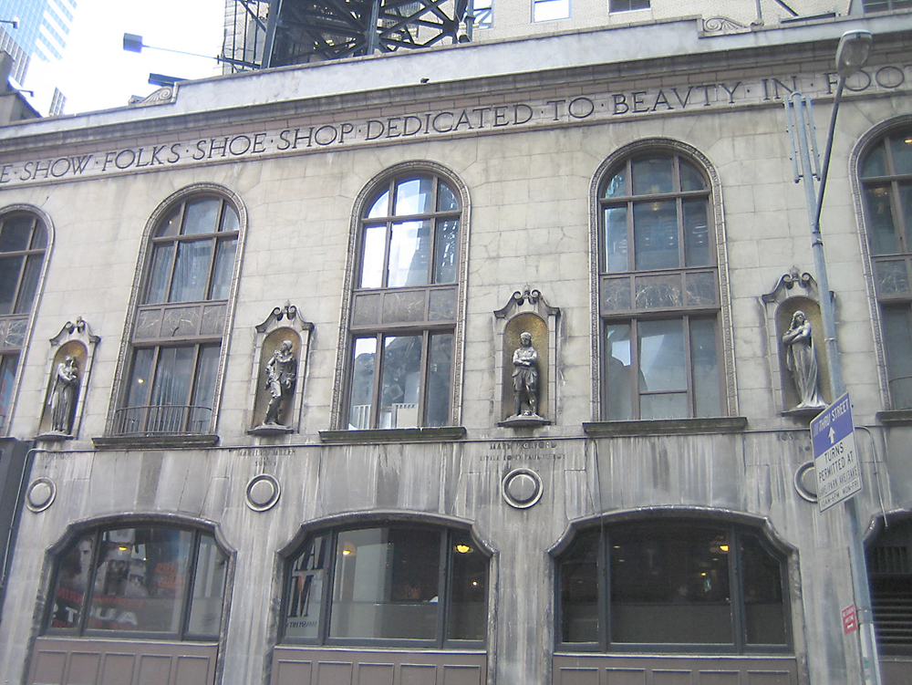I. Miller Building Facade Restoration. Tobin Parnes Design. New York, NY. Historic Preservation. Times Square.