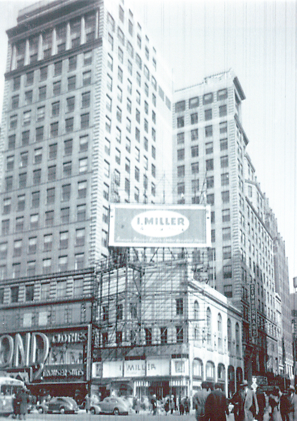 I. Miller Building Facade Restoration. Tobin Parnes Design. New York, NY. Historic Preservation. Archived Photo.
