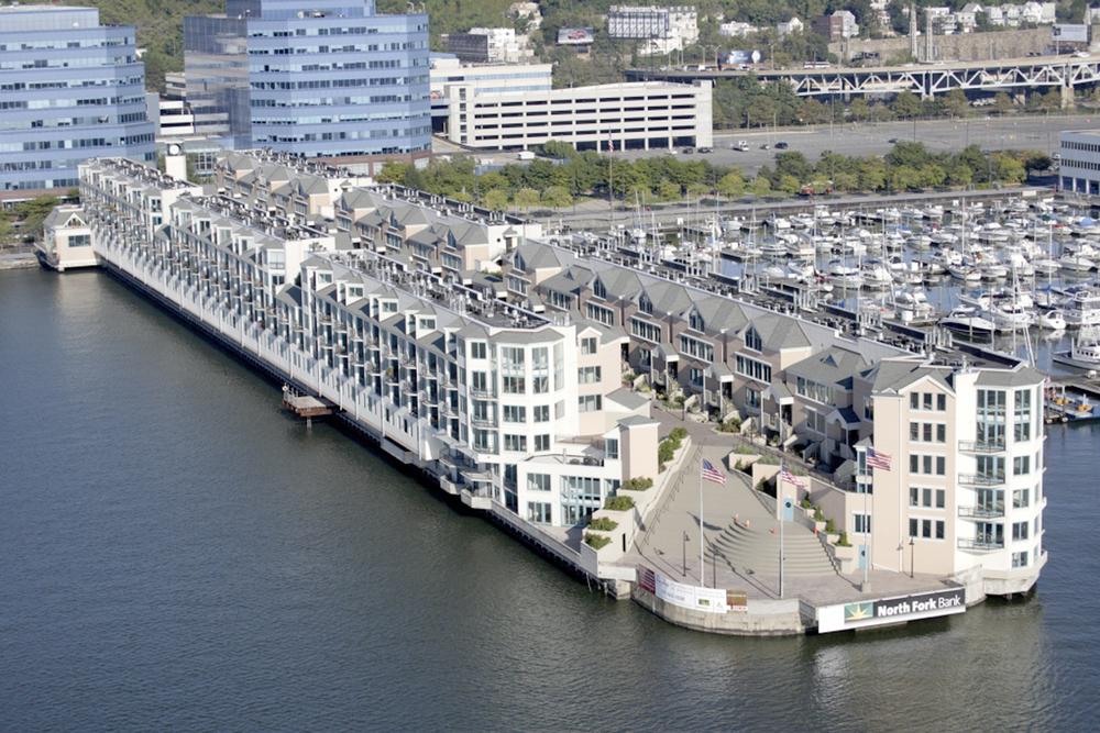 Riva Point. Tobin Parnes Design. Weehawken, New Jersey. Residential. Arial View.