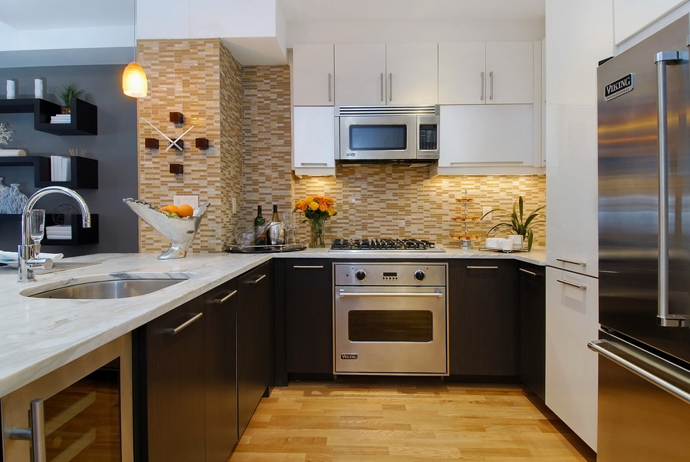 500 4th Avenue. Tobin Parnes Design. New York, NY. Residential. Kitchen.