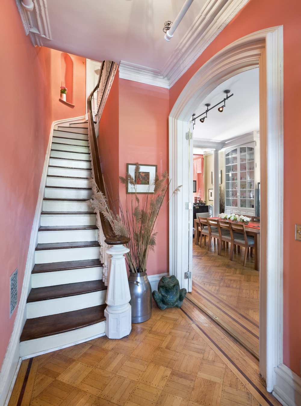 Historic Brownstone Residence. Tobin Parnes Design. Brooklyn, NY.  Residential. Open Plan