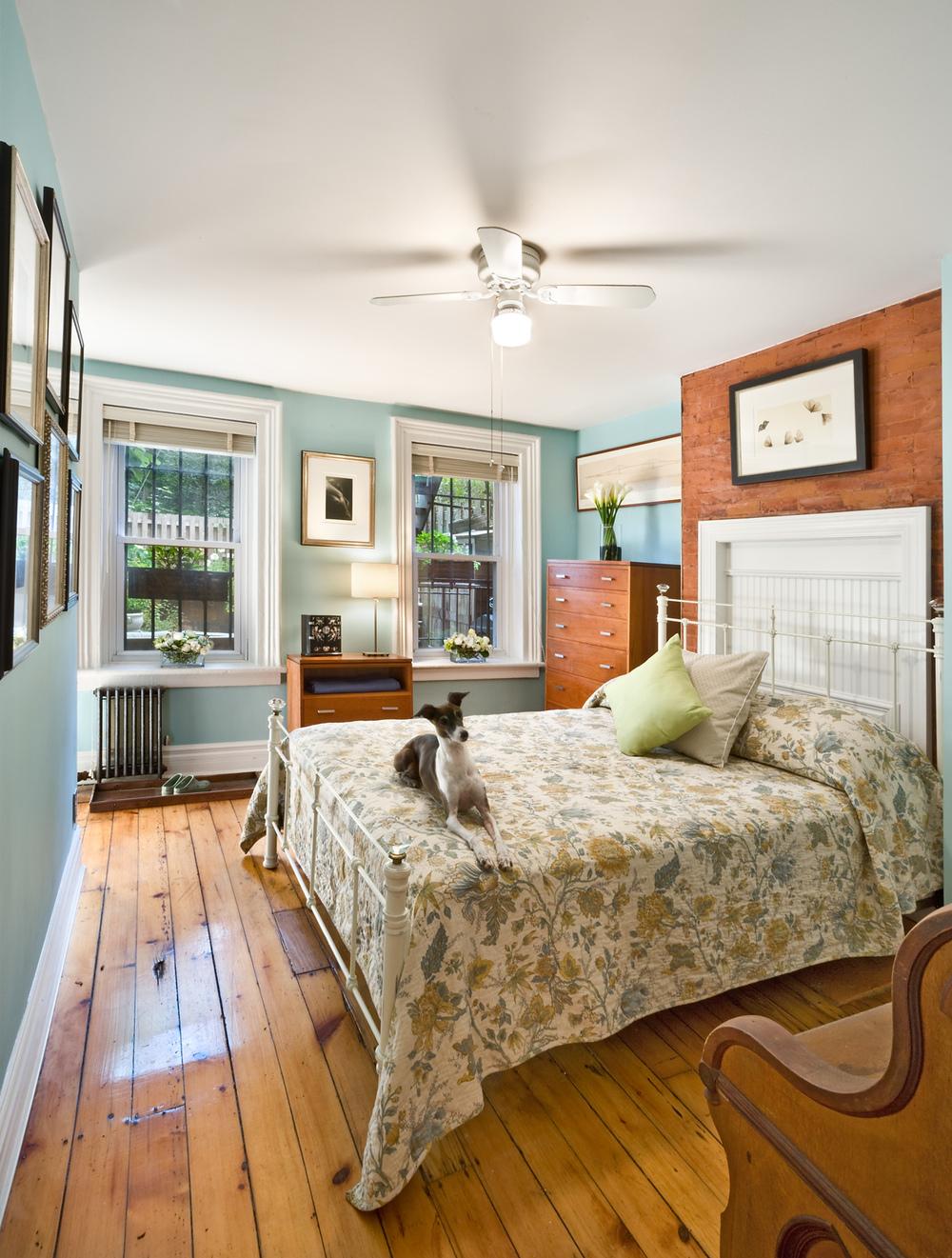 Historic Brownstone Residence. Tobin Parnes Design. Brooklyn, NY. Residential. Bedroom.