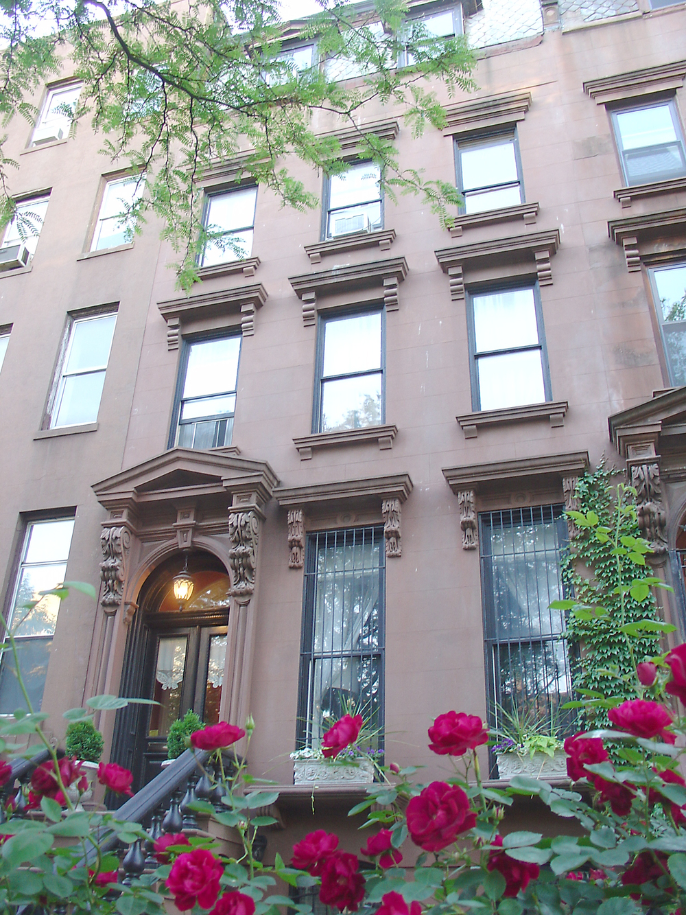 Historic Brownstone Residence. Tobin Parnes Design. Brooklyn, NY. Residential. Exterior. Front Facade.