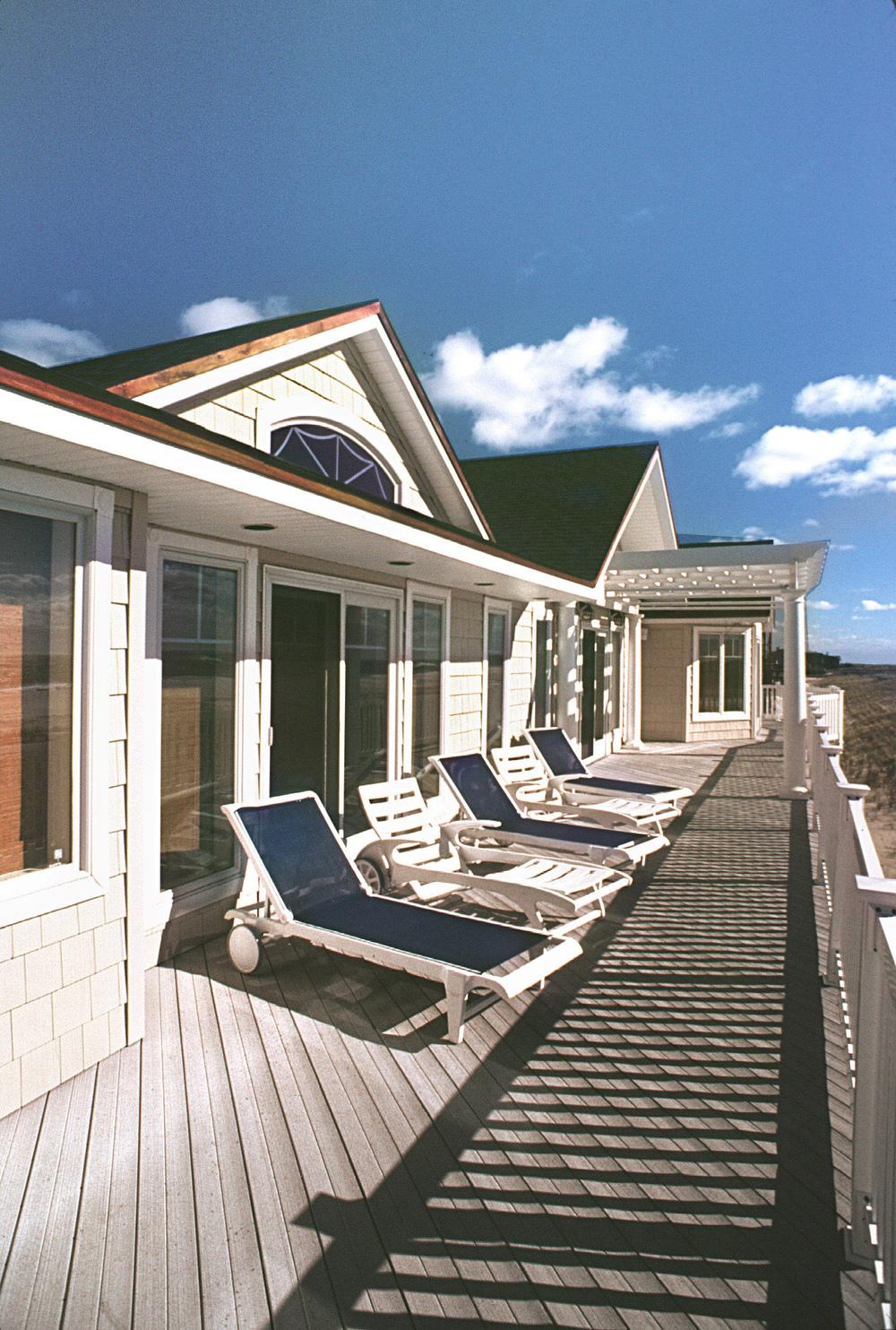 Beach House. Tobin Parnes Design. Residential. Deck View.
