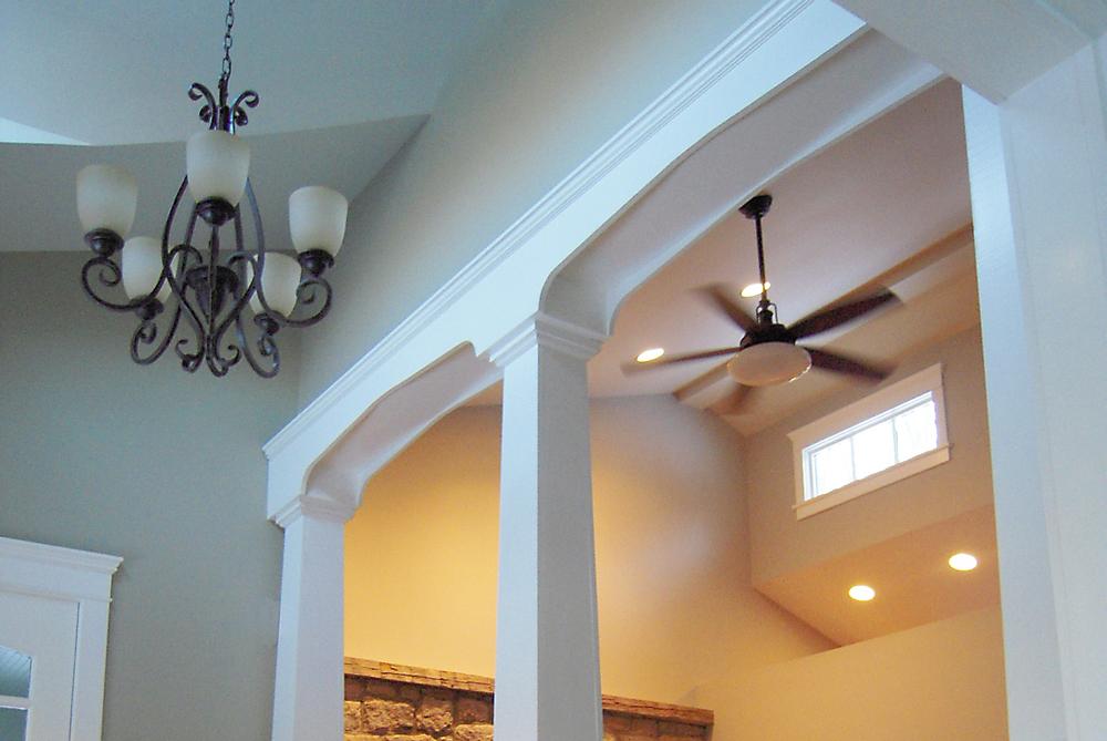 Private Residence. Tobin Parnes Design. Residential. Vestibule Ceiling.