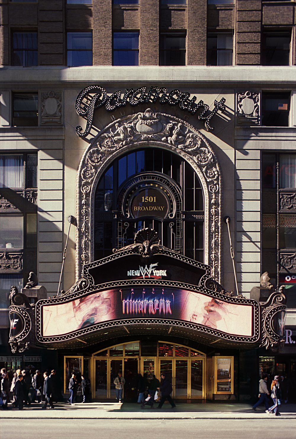 Paramount Building Marquee & Arch. Tobin Parnes Design. New York, NY. Historic Preservation. Street View.