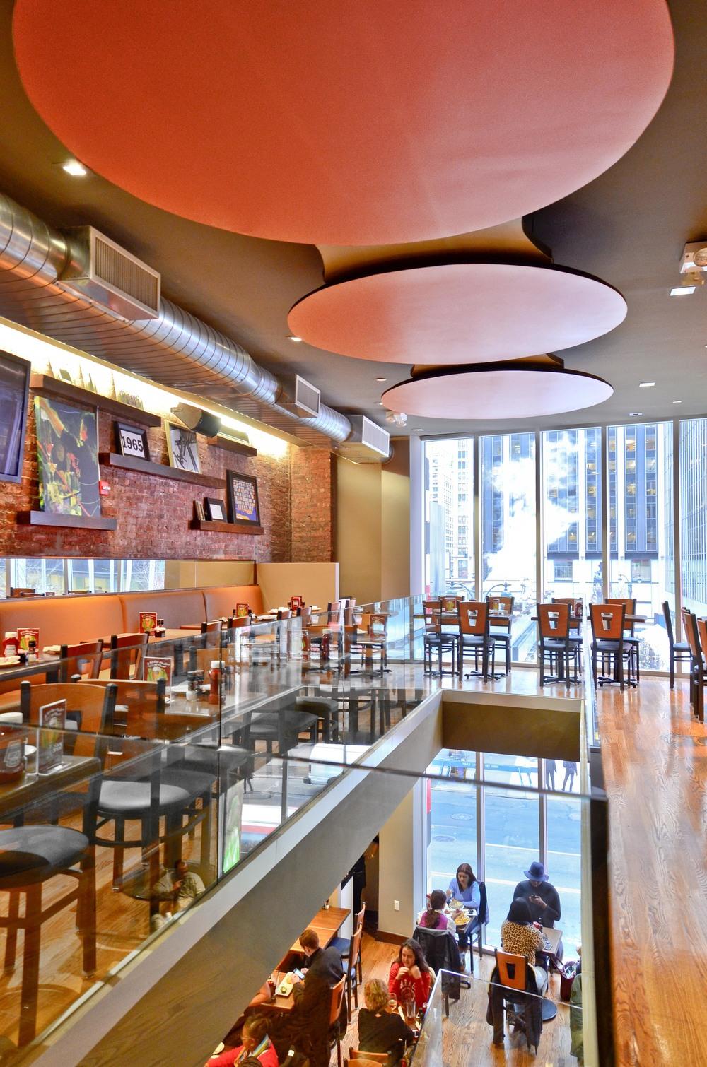 TGI Friday's. Tobin Parnes Design. NYC. Hospitality Design. Restaurant. Dining Area.