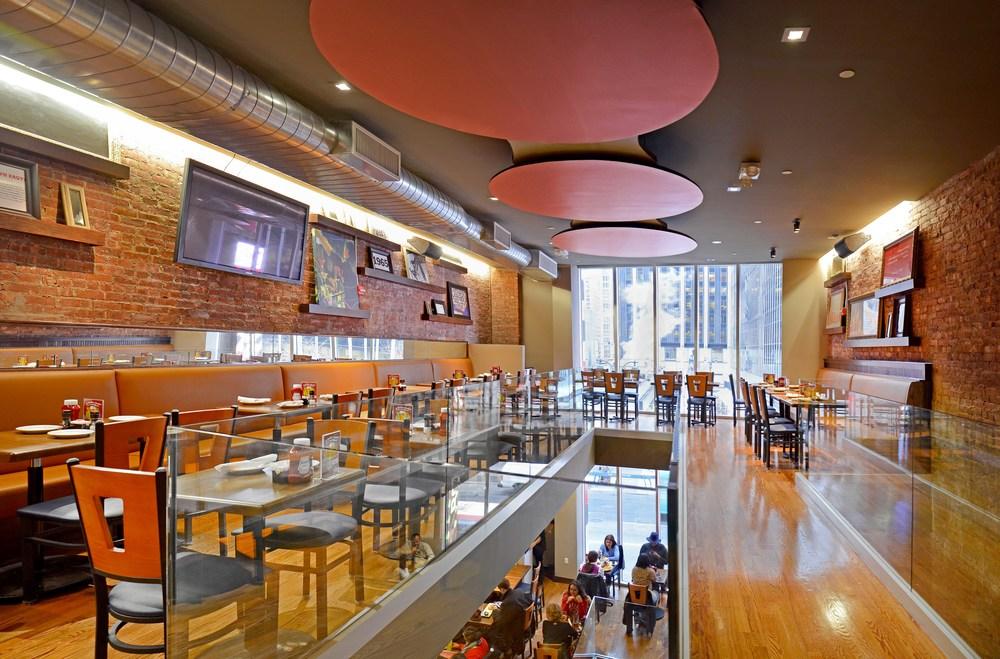 Tobin Parnes Design. TGI Friday's. NYC. Hospitality Design. Restaurant.