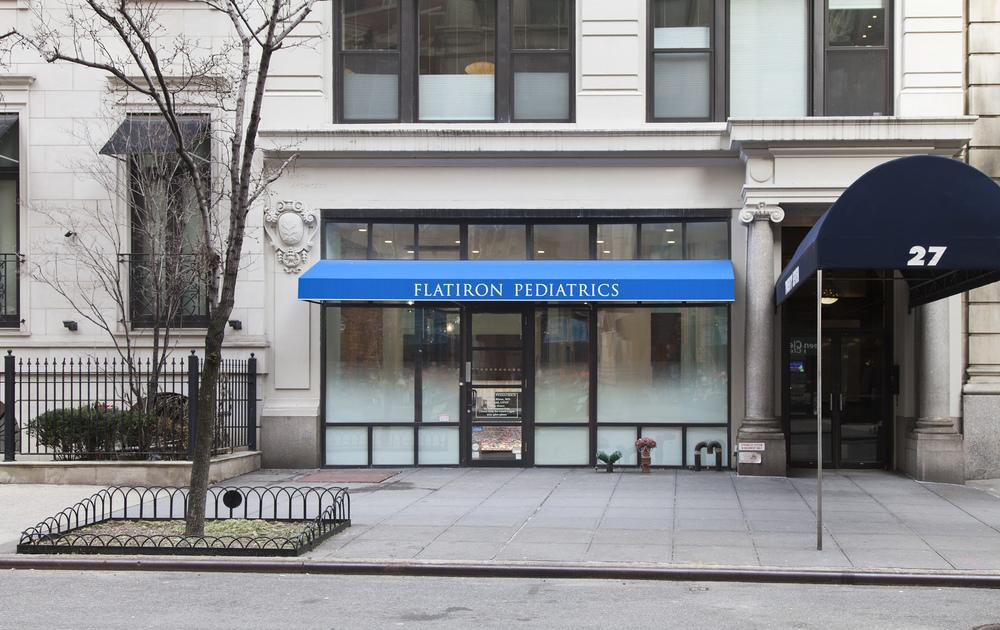 Flatiron Pediatrics. Tobin Parnes Design. NYC. Healthcare Design. Storefront.
