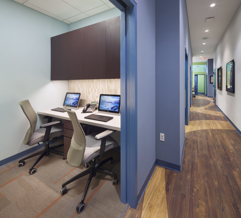 Flatiron Pediatrics. Tobin Parnes Design. NYC. Healthcare Design. Workspace.